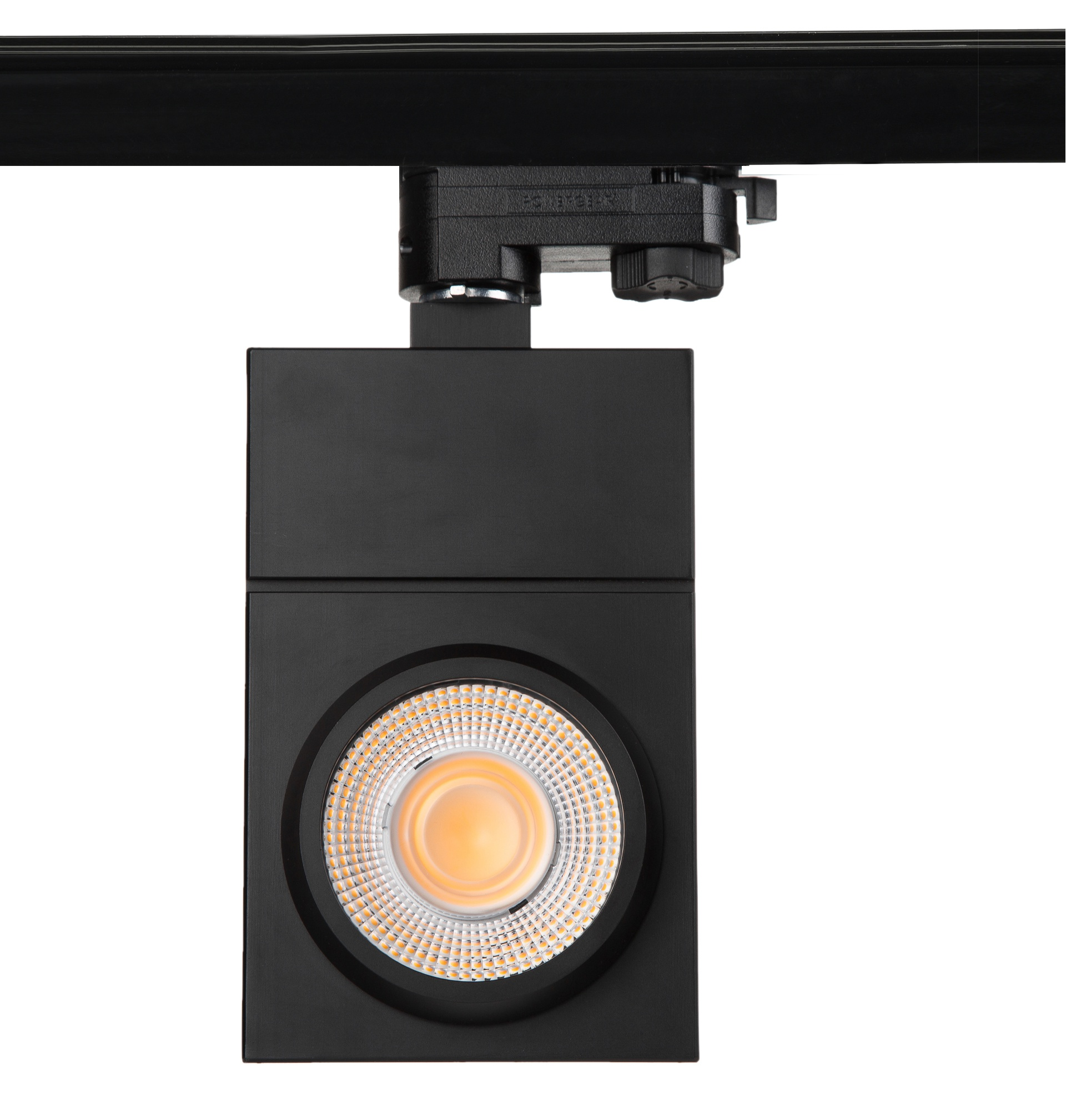 ultra thin led tracklight, square housing, built in tridonic LED driver, flicker free, Citizen COB LEDs, 110lm/W 2CRI80 4000K, UGR<19 @15,24degree