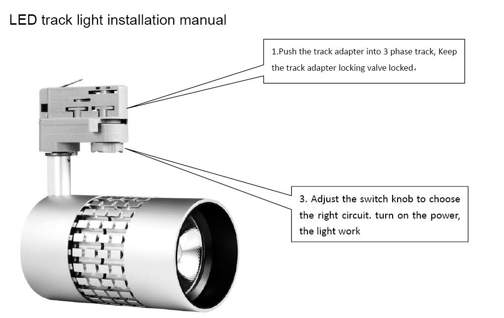 LED track light installation manual