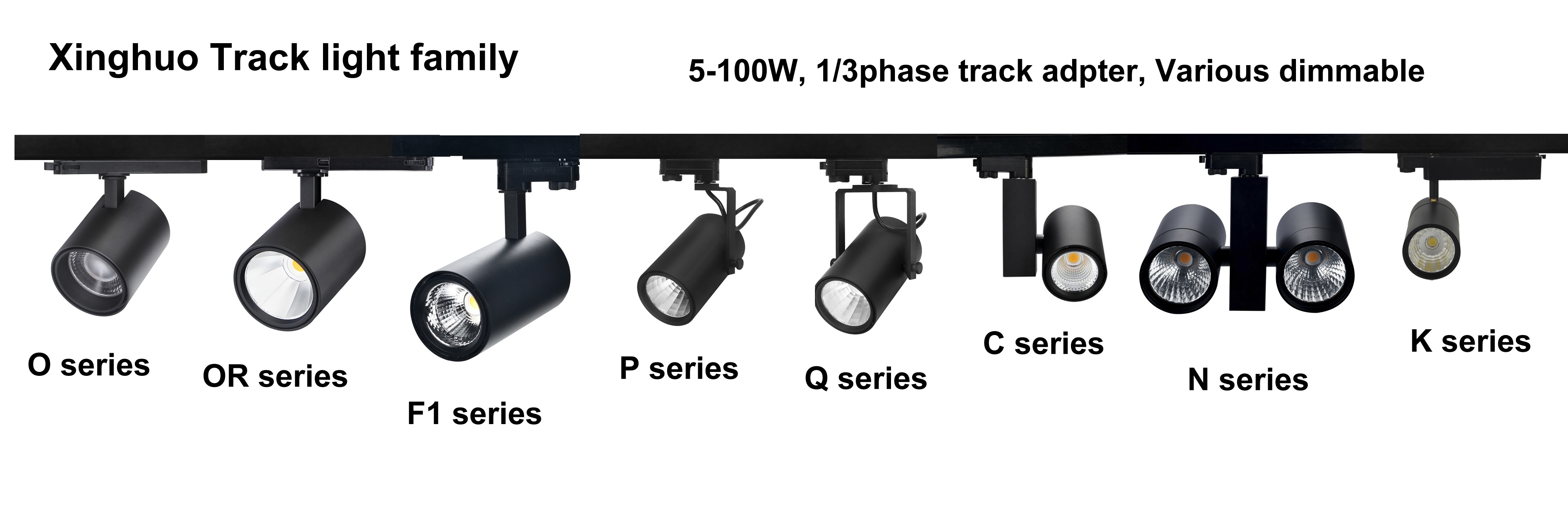 LED tracklight family