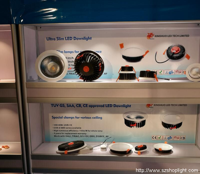 TUV GS approved LED downlight