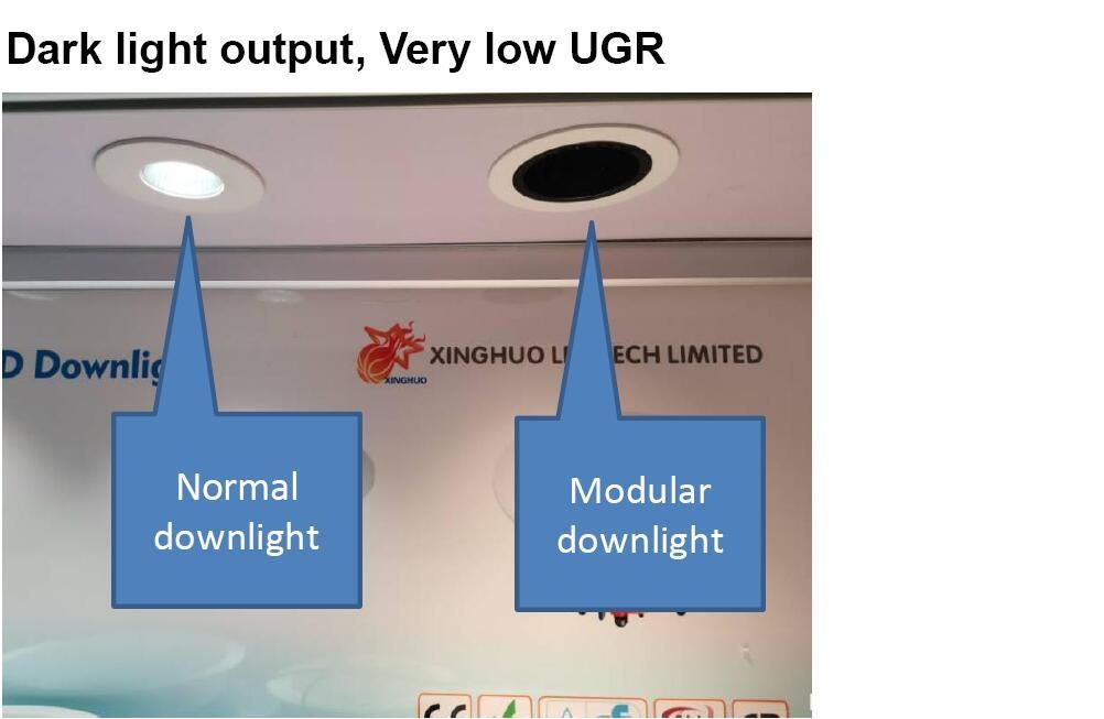 dark light output