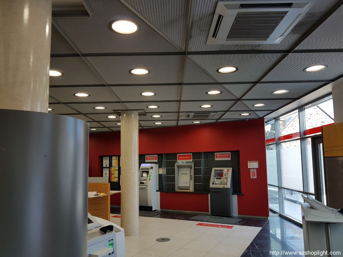downlights in SPARKASSE Germany finished