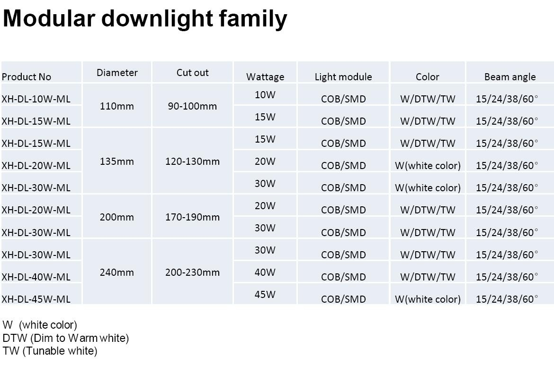 modular downlight family