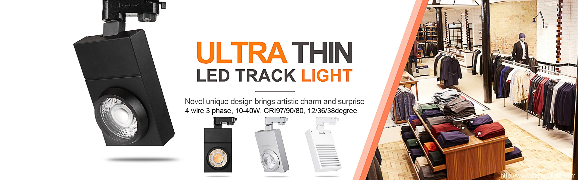 square led track light banner
