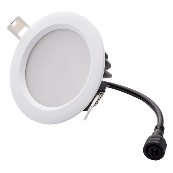 6 inch waterproof LED downlight, diameter 190mm, cut out 160-180mm, Samsung smd5630 LEDs, whole lamp IP65, ADC12 die cast aluminum as body materials